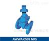 球墨鑄鐵美標軟密封暗桿閘閥AWWA C509
