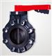 廈門三厘工業PVC渦輪把手式電動氣動蝶閥